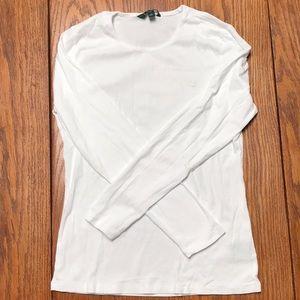 White Ralph Lauren long sleeve shirt.